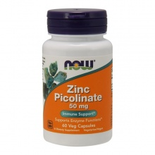 NOW Zinc Picolinate 50 мг 60 капсул